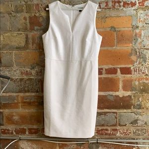 Ann Taylor textured white dress